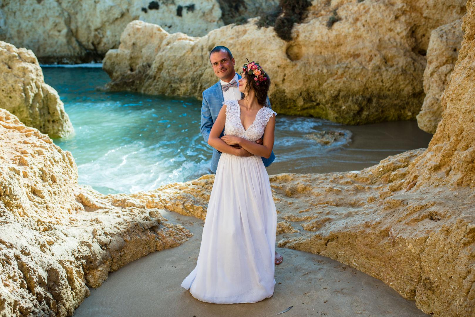 Sesja ślubna na portugalskiej plaży